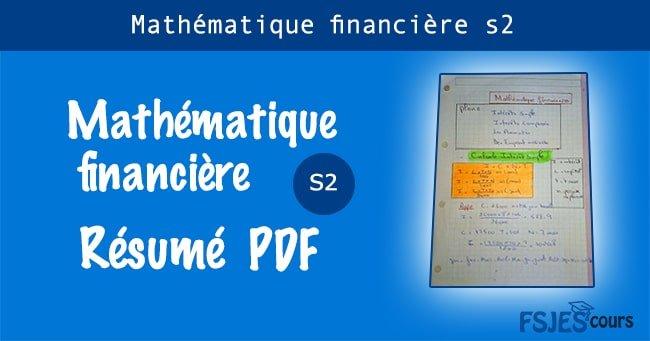 Mathématique financière résumé