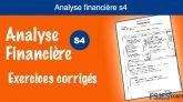 Analyse financière exercices corrigés