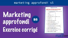Marketing approfondi exercice corrigé
