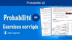 Probabilité exercices corrigés