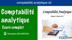 Comptabilité analytique cours s3