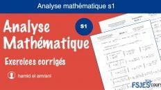 Analyse mathématique exercices corrigés