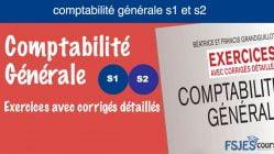 Exercices avec corrigés détaillés Comptabilité générale s1 et s2