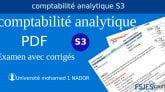 06 Examens comptabilité analytique s3 avec corrigé PDF