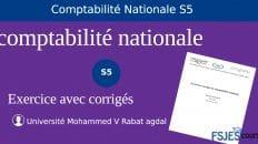 Meilleur exercice corrigé en Comptabilité nationale S5 PDF