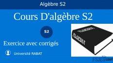 Cours D'algèbre S2 pdf avec des exemples